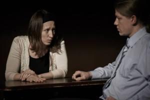 """Smoke and mirrors"" – play by Rhiannan Falshaw-Skelley, dir. Dominika Visy , London Drama Group, The Space Theatre"